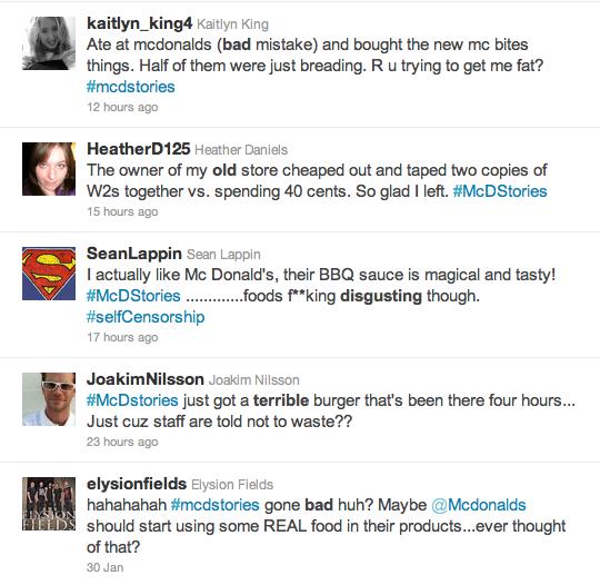 Los usuarios usaron #McDStories para burlarse de la marca y expresar descontento