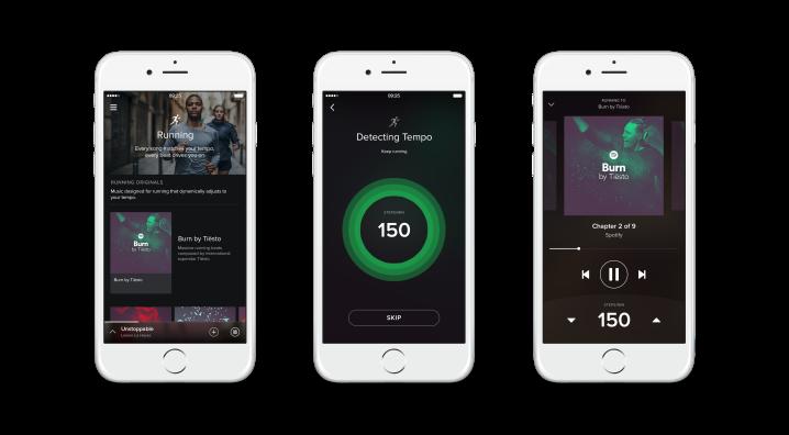 Spotify Running detecta el tempo al correr y selecciona la música